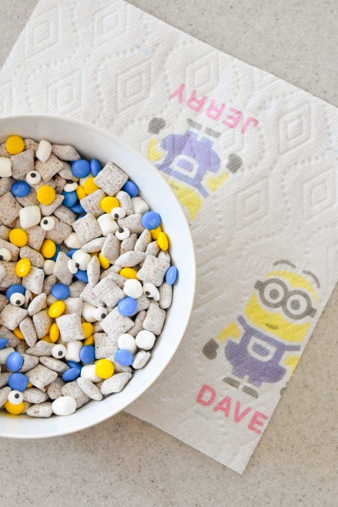 Despicable Me 3 Snack Mix Recipe for Bounty via Kara's Party Ideas