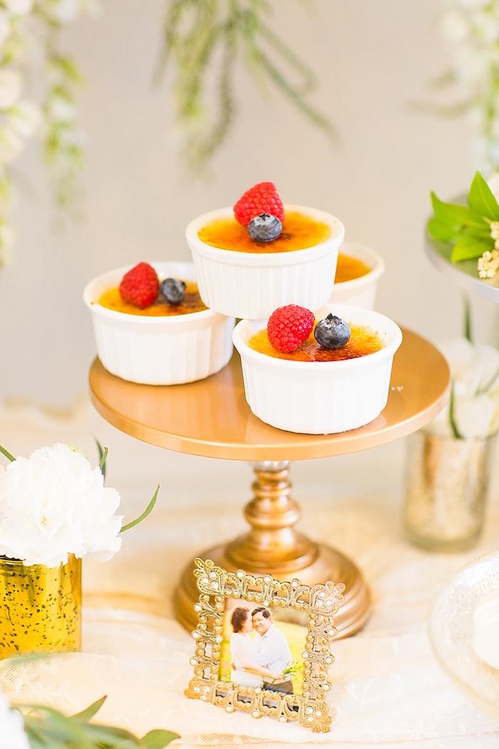 Crème brûlée from an Elegant Spring Anniversary Party on Kara's Party Ideas | KarasPartyIdeas.com (17)