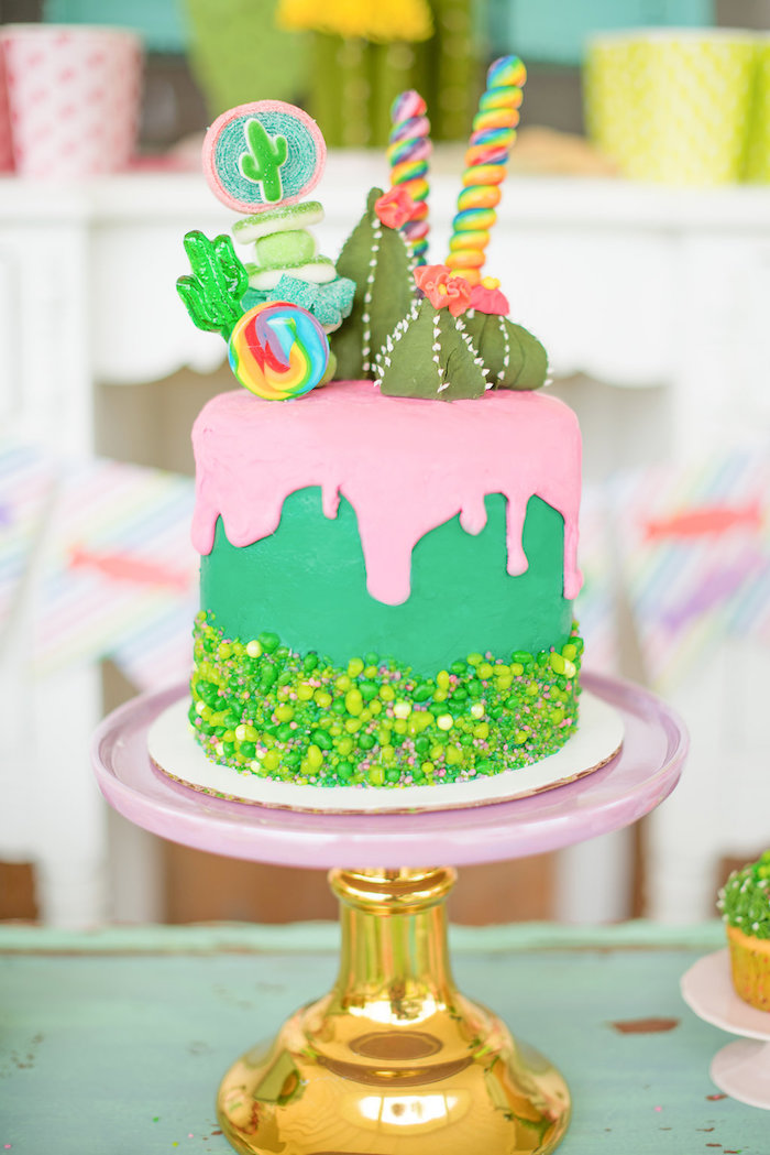 Kara S Party Ideas Cactus Amp Candy Summer Soiree Kara S