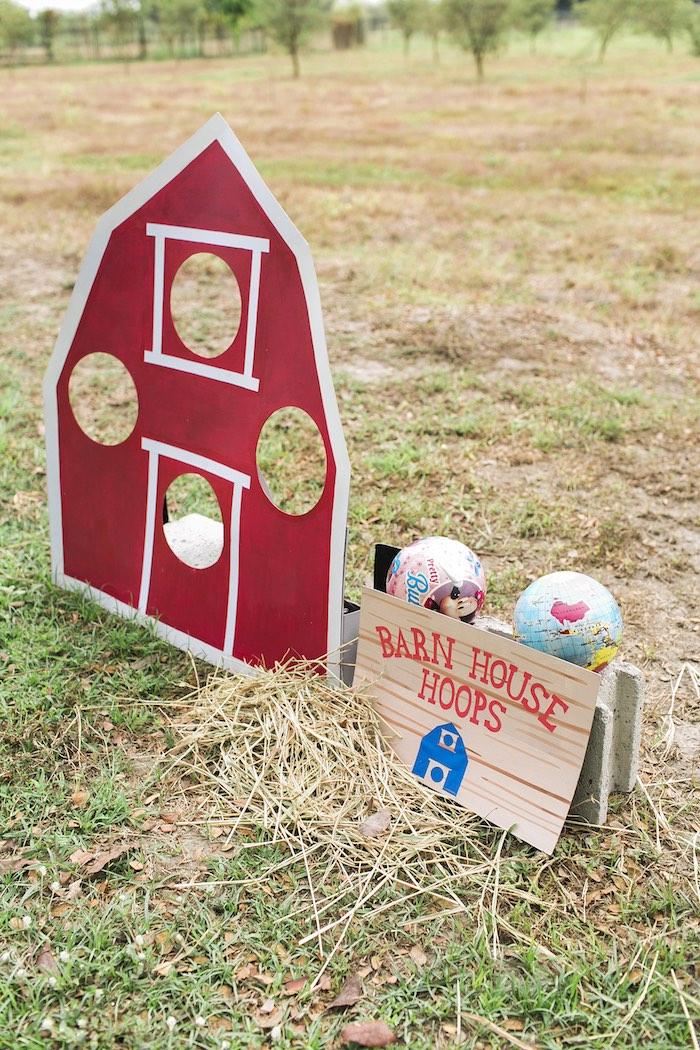 Barn House Hoops game from a Farm Birthday Party on Kara's Party Ideas | KarasPartyIdeas.com (45)
