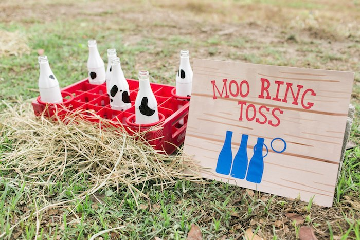 Moo Ring Toss party game from a Farm Birthday Party on Kara's Party Ideas | KarasPartyIdeas.com (44)