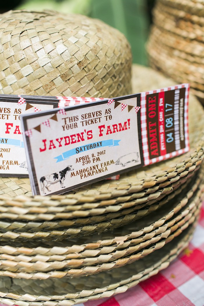 Farm Party Invite from a Farm Birthday Party on Kara's Party Ideas | KarasPartyIdeas.com (39)
