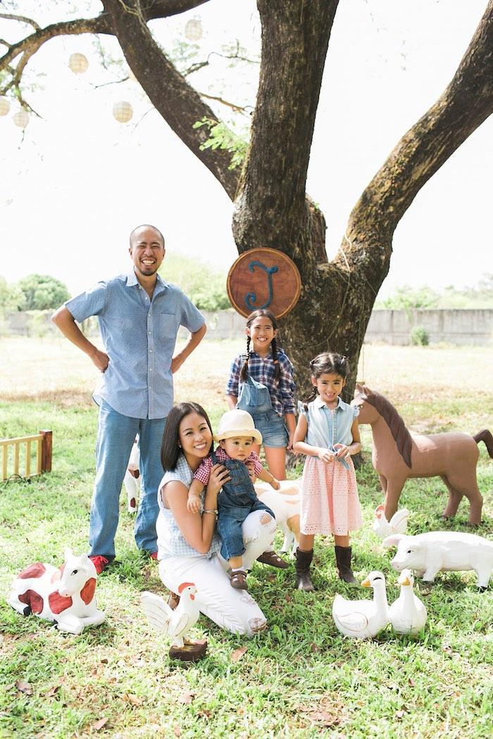 Farmyard from a Farm Birthday Party on Kara's Party Ideas | KarasPartyIdeas.com (36)