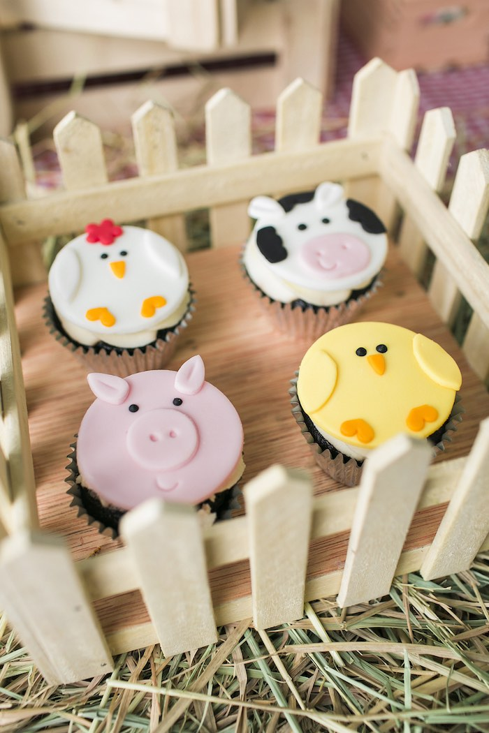 Fenced cupcakes from a Farm Birthday Party on Kara's Party Ideas | KarasPartyIdeas.com (33)