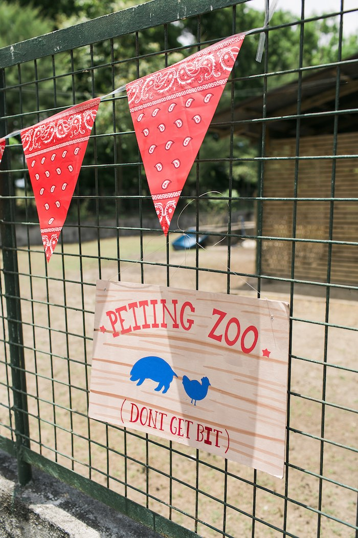 Petting zoo + party signage from a Farm Birthday Party on Kara's Party Ideas | KarasPartyIdeas.com (53)