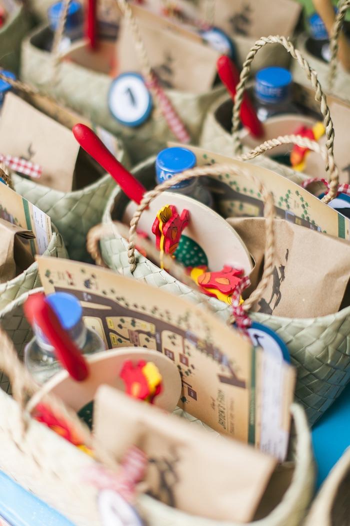 Favor baskets from a Farm Birthday Party on Kara's Party Ideas | KarasPartyIdeas.com (17)