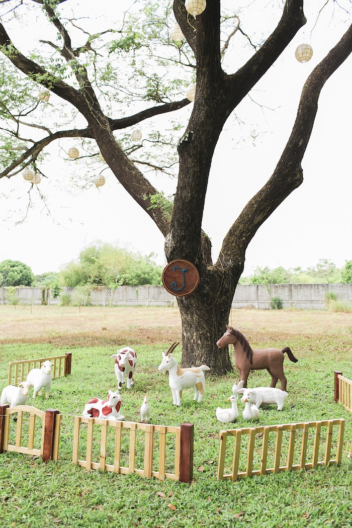 Farmyard from a Farm Birthday Party on Kara's Party Ideas | KarasPartyIdeas.com (47)