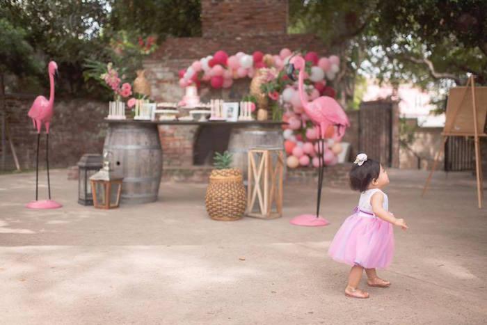 First Birthday Flamingle Flamingo on Kara's Party Ideas | KarasPartyIdeas.com (18)