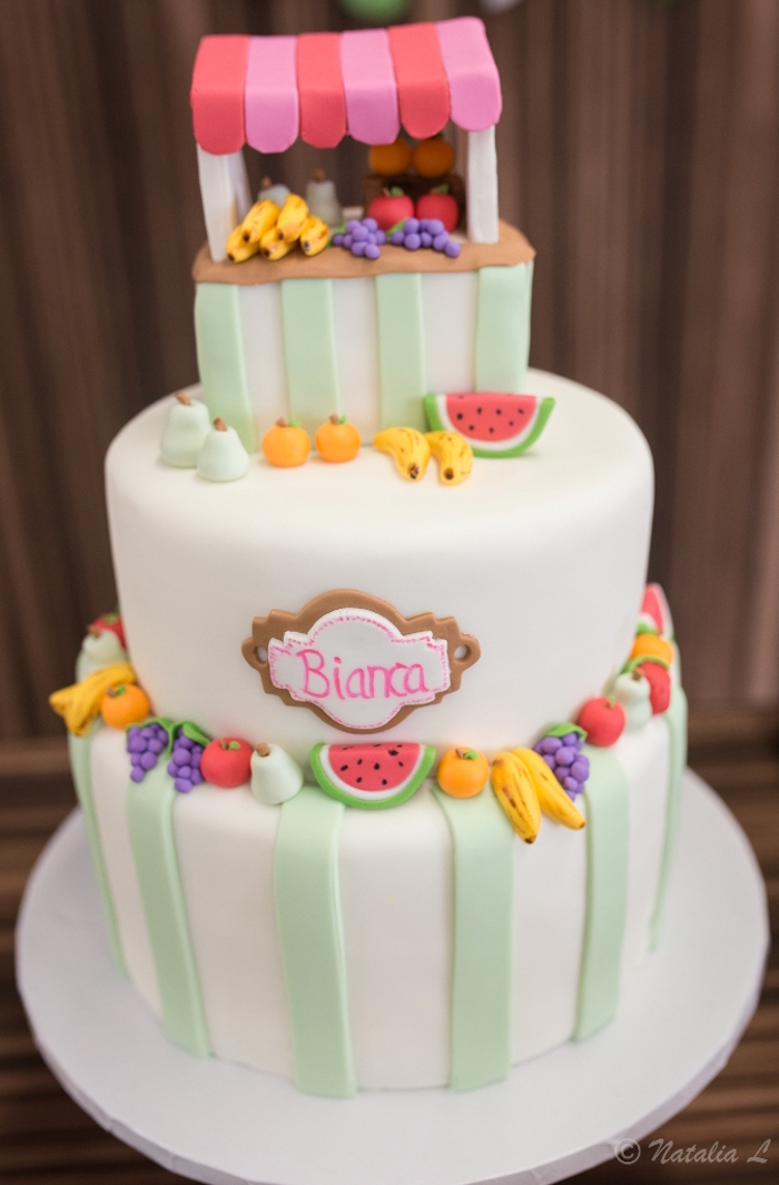 Cake from a Floral Farmer's Market Birthday Party on Kara's Party Ideas | KarasPartyIdeas.com (21)