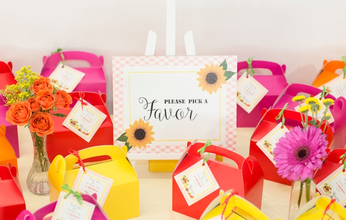 Gable favor boxes from a Floral Farmer's Market Birthday Party on Kara's Party Ideas | KarasPartyIdeas.com (7)