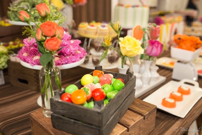 Dessert table decor from a Floral Farmer's Market Birthday Party on Kara's Party Ideas | KarasPartyIdeas.com (28)