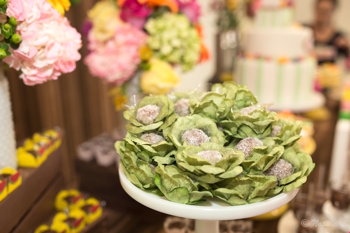 Cabbage-inspired truffles from a Floral Farmer's Market Birthday Party on Kara's Party Ideas | KarasPartyIdeas.com (27)