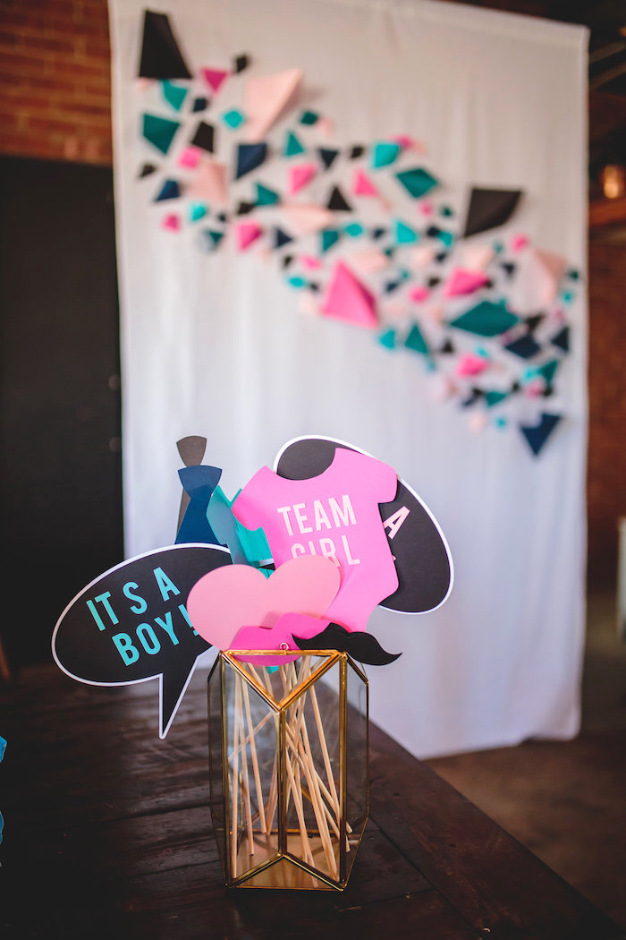 party ideas geometric gender reveal baby shower kara 39 s party ideas