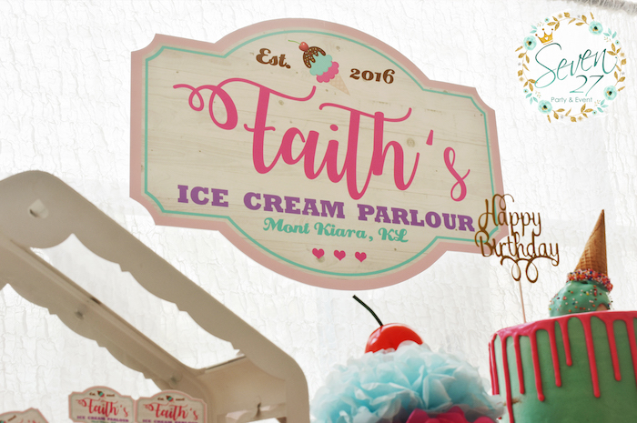 Table banner + party signage from a Girly Ice Cream Birthday Party on Kara's Party Ideas | KarasPartyIdeas.com (22)