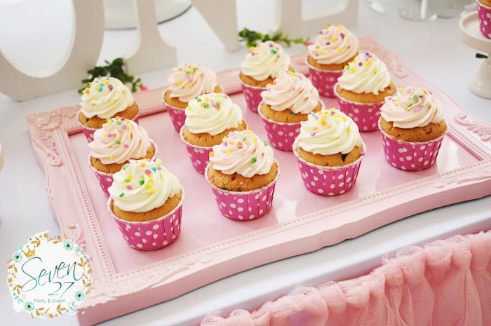 Cupcakes from a Girly Ice Cream Birthday Party on Kara's Party Ideas | KarasPartyIdeas.com (21)