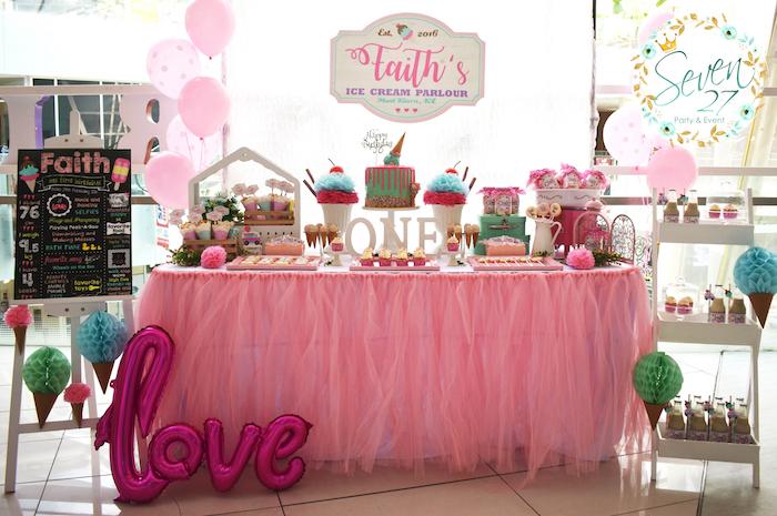 Girly Ice Cream Birthday Party on Kara's Party Ideas | KarasPartyIdeas.com (34)
