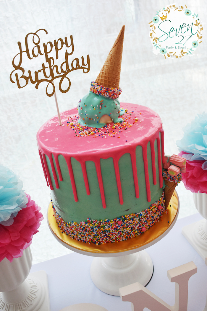 birthday cake ice cream kara s ideas girly birthday kara s 1755