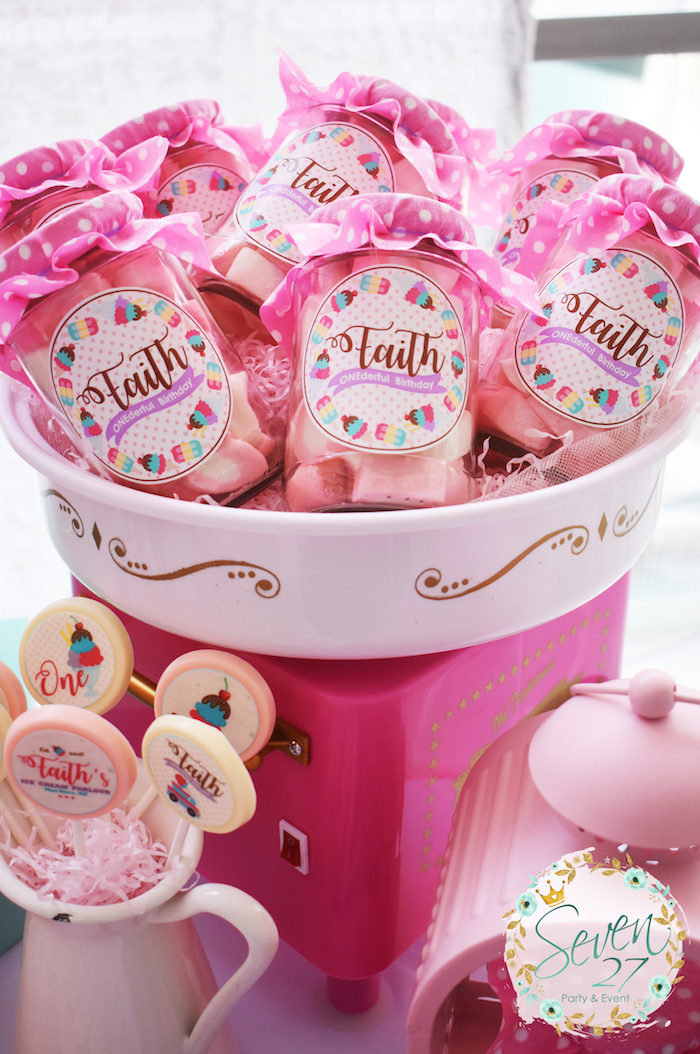 Favors from a Girly Ice Cream Birthday Party on Kara's Party Ideas | KarasPartyIdeas.com (10)