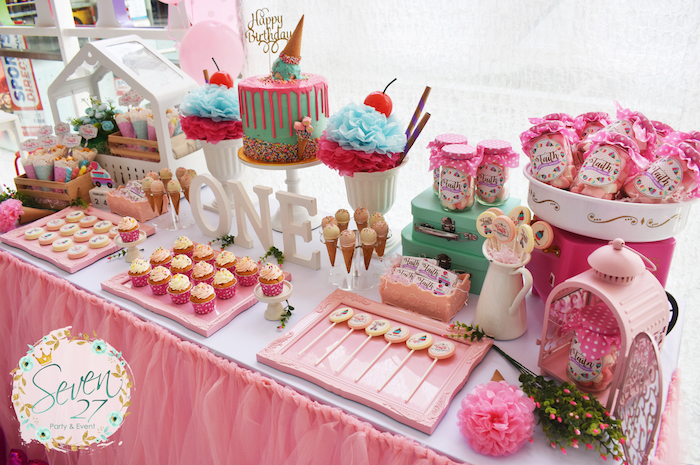 Girly Ice Cream Birthday Party on Kara's Party Ideas | KarasPartyIdeas.com (32)