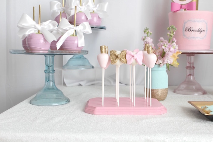 Dessert table detail from a Glam Spa Retreat Birthday Party on Kara's Party Ideas | KarasPartyIdeas.com (16)