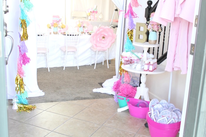 Details and favors from a Glam Spa Retreat Birthday Party on Kara's Party Ideas | KarasPartyIdeas.com (7)