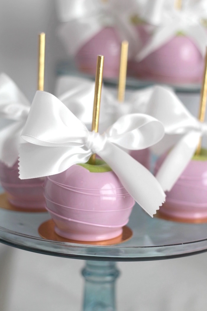 Candied apples from a Glam Spa Retreat Birthday Party on Kara's Party Ideas | KarasPartyIdeas.com (35)