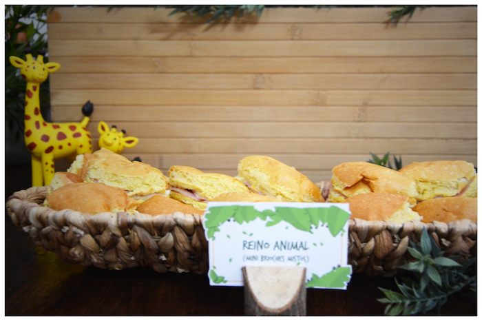 Sandwiches from a Jungle Animal Birthday Party on Kara's Party Ideas | KarasPartyIdeas.com (12)