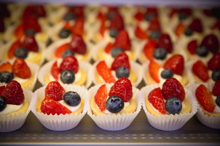 Fruit tarts from a Little Town 1st Birthday Party on Kara's Party Ideas | KarasPartyIdeas.com (10)