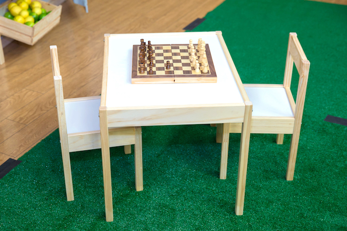 Chess set 'in the park' from a Little Town 1st Birthday Party on Kara's Party Ideas | KarasPartyIdeas.com (7)