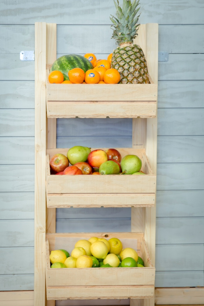 Fruit stand from a Little Town 1st Birthday Party on Kara's Party Ideas | KarasPartyIdeas.com (27)