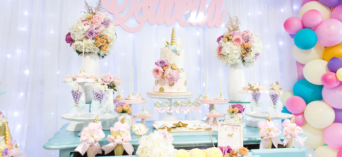 Kara S Party Ideas Mystical And Magical Unicorn Birthday