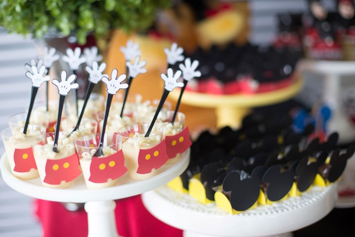 Dessert cups from a Mickey Mouse Clubhouse Birthday Party on Kara's Party Ideas | KarasPartyIdeas.com (20)