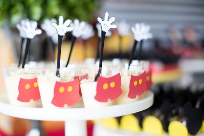 Mickey Mouse dessert cups from a Mickey Mouse Clubhouse Birthday Party on Kara's Party Ideas | KarasPartyIdeas.com (16)