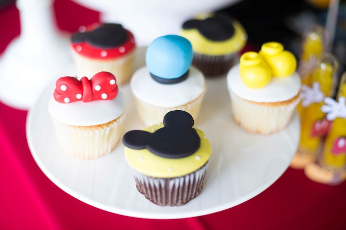 Mickey Mouse Clubhouse Cupcakes from a Mickey Mouse Clubhouse Birthday Party on Kara's Party Ideas | KarasPartyIdeas.com (15)
