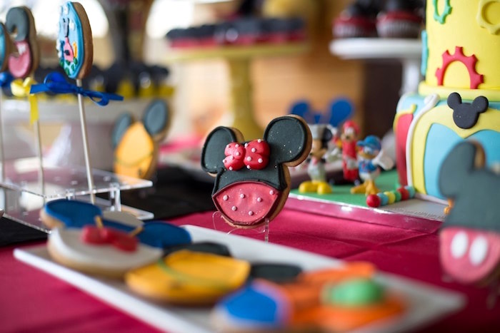Minnie Mouse Cookie from a Mickey Mouse Clubhouse Birthday Party on Kara's Party Ideas | KarasPartyIdeas.com (14)