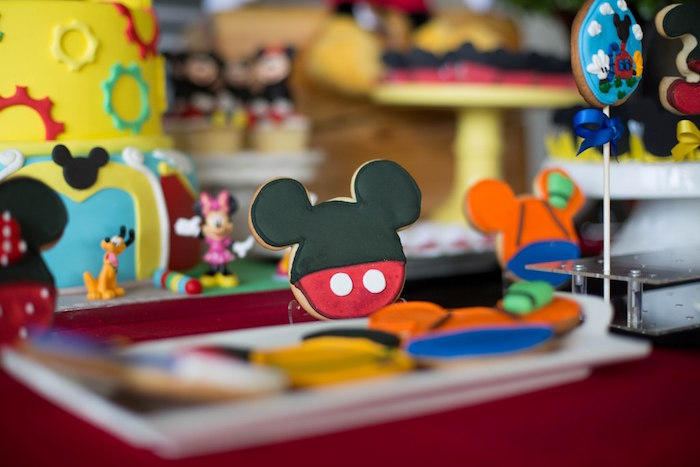 Mickey Mouse Cookie from a Mickey Mouse Clubhouse Birthday Party on Kara's Party Ideas | KarasPartyIdeas.com (13)