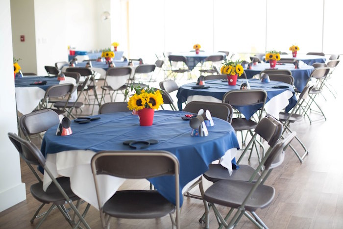 Guest tables from a Mickey Mouse Clubhouse Birthday Party on Kara's Party Ideas | KarasPartyIdeas.com (9)