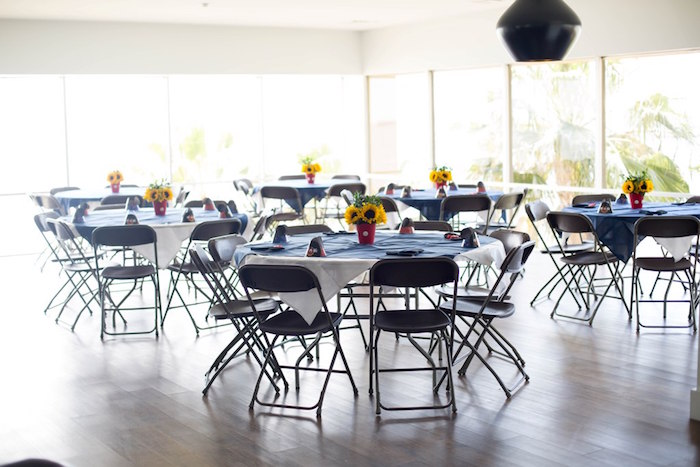 Guest tables from a Mickey Mouse Clubhouse Birthday Party on Kara's Party Ideas | KarasPartyIdeas.com (8)