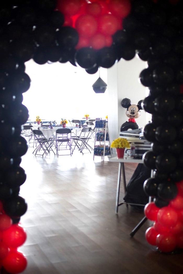Balloon entrance from a Mickey Mouse Clubhouse Birthday Party on Kara's Party Ideas | KarasPartyIdeas.com (29)