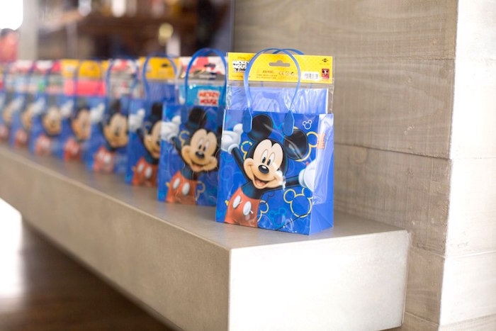 Favor bags from a Mickey Mouse Clubhouse Birthday Party on Kara's Party Ideas | KarasPartyIdeas.com (25)