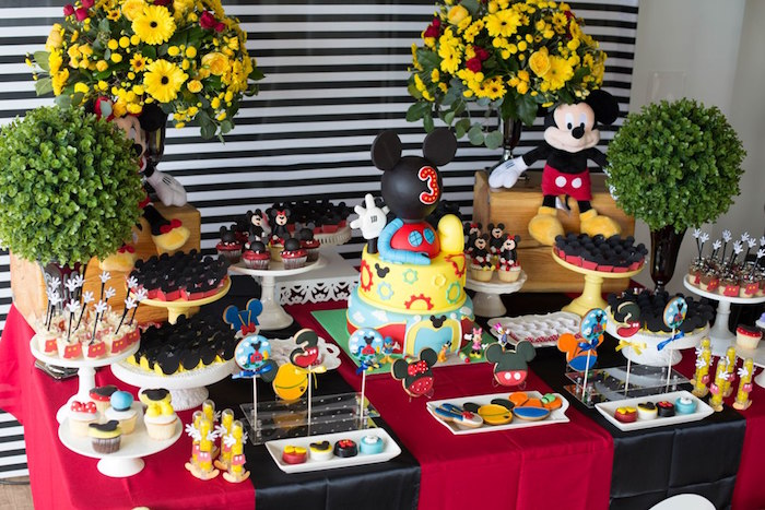 Dessert table from a Mickey Mouse Clubhouse Birthday Party on Kara's Party Ideas | KarasPartyIdeas.com (23)