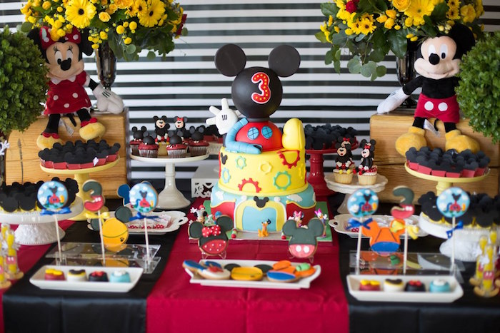 Dessert table from a Mickey Mouse Clubhouse Birthday Party on Kara's Party Ideas | KarasPartyIdeas.com (22)