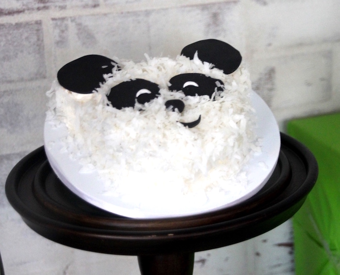 Panda Bear Cake from a Modern Safari Panda Birthday Party on Kara's Party Ideas | KarasPartyIdeas.com (7)