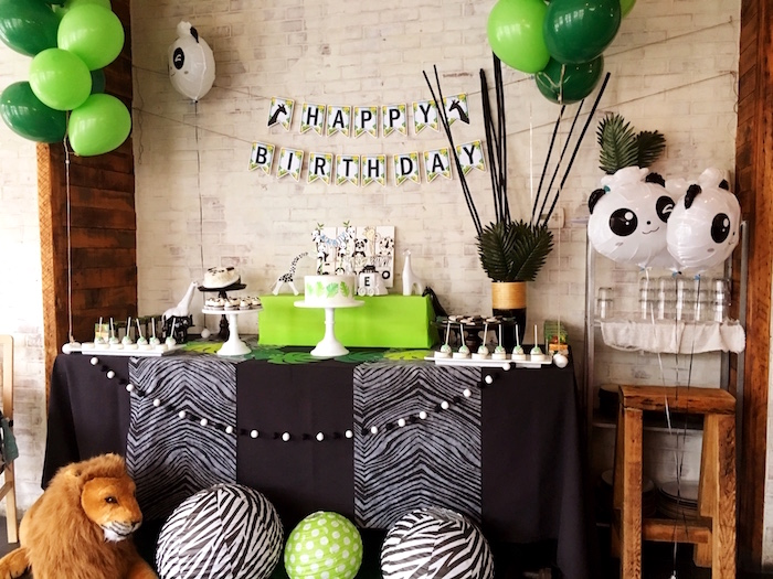 Modern Safari Panda Birthday Party on Kara's Party Ideas | KarasPartyIdeas.com (6)