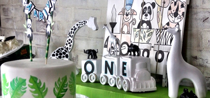 Modern Safari Panda Birthday Party on Kara's Party Ideas | KarasPartyIdeas.com (2)