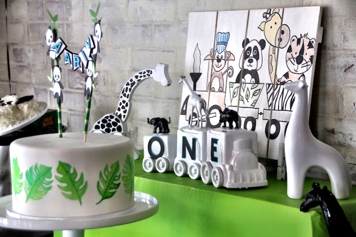 Karas Party Ideas Modern Safari Panda Birthday Party