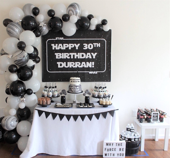 Monochromatic Star Wars Birthday Party on Kara's Party Ideas | KarasPartyIdeas.com (18)