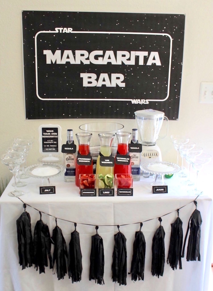 Margarita bar from a Monochromatic Star Wars Birthday Party on Kara's Party Ideas | KarasPartyIdeas.com (14)