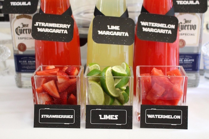 Margarita mix-ins from a Monochromatic Star Wars Birthday Party on Kara's Party Ideas | KarasPartyIdeas.com (12)