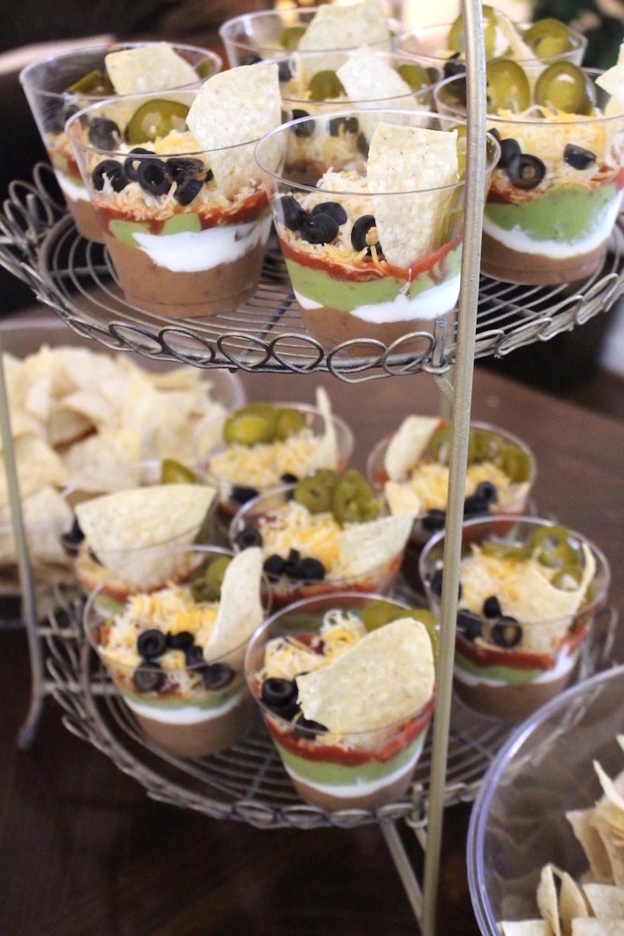 Individual 7-layer dip from a Monochromatic Star Wars Birthday Party on Kara's Party Ideas | KarasPartyIdeas.com (11)